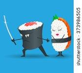 design element for sushi... | Shutterstock .eps vector #373986505