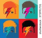 february 8  2016  david bowie... | Shutterstock .eps vector #373991731