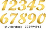 numeral gold  arabic numerals ... | Shutterstock .eps vector #373994965