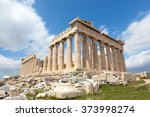 Ruins Of The Temple Parthenon...