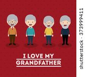 grandparents concept design  | Shutterstock .eps vector #373999411