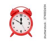 red alarm clock on white   Shutterstock . vector #374002654
