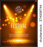 festival poster template with... | Shutterstock .eps vector #374008744