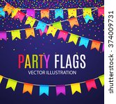 party flags design with... | Shutterstock .eps vector #374009731