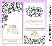 romantic invitation. wedding ... | Shutterstock . vector #374021014