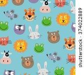 funny cartoon figures for kids  | Shutterstock .eps vector #374022889