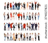 teams over white team together  | Shutterstock . vector #374027821
