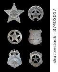 several old  vintage sheriff ... | Shutterstock . vector #37403017
