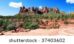 panoramic of a red stone... | Shutterstock . vector #37403602