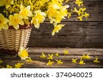 still life with yellow flowers | Shutterstock . vector #374040025