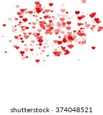 pattern with hearts. valentines ... | Shutterstock .eps vector #374048521