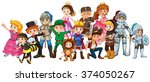 children in stage costume | Shutterstock .eps vector #374050267