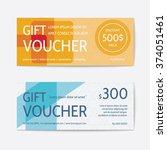 gift voucher modern template  | Shutterstock .eps vector #374051461