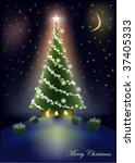 sweet christmas tree home | Shutterstock .eps vector #37405333