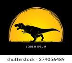 t rex dinosaur designed on ...   Shutterstock .eps vector #374056489