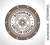 bohemian background design    Shutterstock .eps vector #374058901