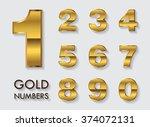 vector golden numbers.set of... | Shutterstock .eps vector #374072131