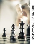 vertical image of a chess game... | Shutterstock . vector #374078881