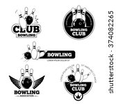 bowling labels | Shutterstock . vector #374082265