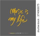 music poster illustration  ... | Shutterstock .eps vector #374083075