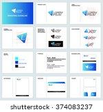 branding  corporate identity...   Shutterstock .eps vector #374083237