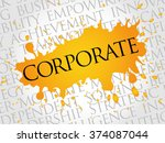 corporate word cloud  business... | Shutterstock . vector #374087044