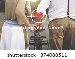 looking for love valentine... | Shutterstock . vector #374088511