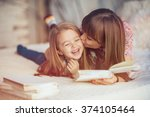 portrait of a smiling young... | Shutterstock . vector #374105464