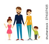 beautiful family design. vector ... | Shutterstock .eps vector #374107435