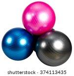 yoga ball | Shutterstock . vector #374113435