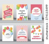 birthday  holiday  christmas... | Shutterstock .eps vector #374115499
