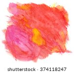 watercolor image. red and... | Shutterstock . vector #374118247