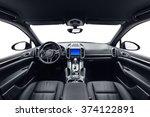 car inside. interior of... | Shutterstock . vector #374122891