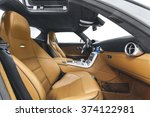 car interior luxury | Shutterstock . vector #374122981