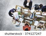 Stock photo group of business people working in the office concept 374127247