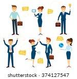 business character design set... | Shutterstock .eps vector #374127547