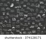 grunge background  black brick... | Shutterstock . vector #374128171