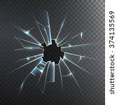 accidentally broken frosted... | Shutterstock .eps vector #374135569