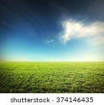 Beatiful Morning Green Field...