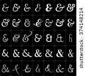 set of decoration ampersands... | Shutterstock . vector #374148214