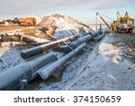 in the pipeline construction | Shutterstock . vector #374150659