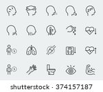 illness symptoms vector icon... | Shutterstock .eps vector #374157187
