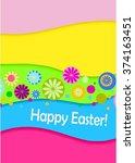 easter background. vector... | Shutterstock .eps vector #374163451