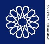 geometric oriental arabic... | Shutterstock .eps vector #374167771