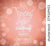 happy birthday design  | Shutterstock .eps vector #374169421