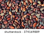 Pattern Of The Cocoa Beans...