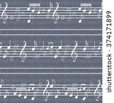 seamless music pattern with... | Shutterstock .eps vector #374171899