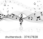 vector musical notes staff... | Shutterstock .eps vector #37417828