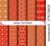 asian vector pattern pattern...   Shutterstock .eps vector #374178829