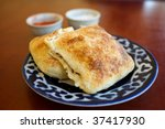 Samsa, Traditional Uzbek Food - stock photo